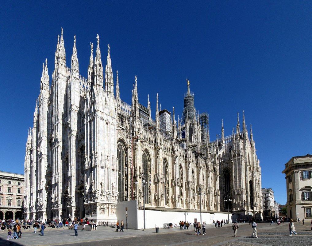 Мілан, Італія. Міланская базыліка: Duomo di Milano.