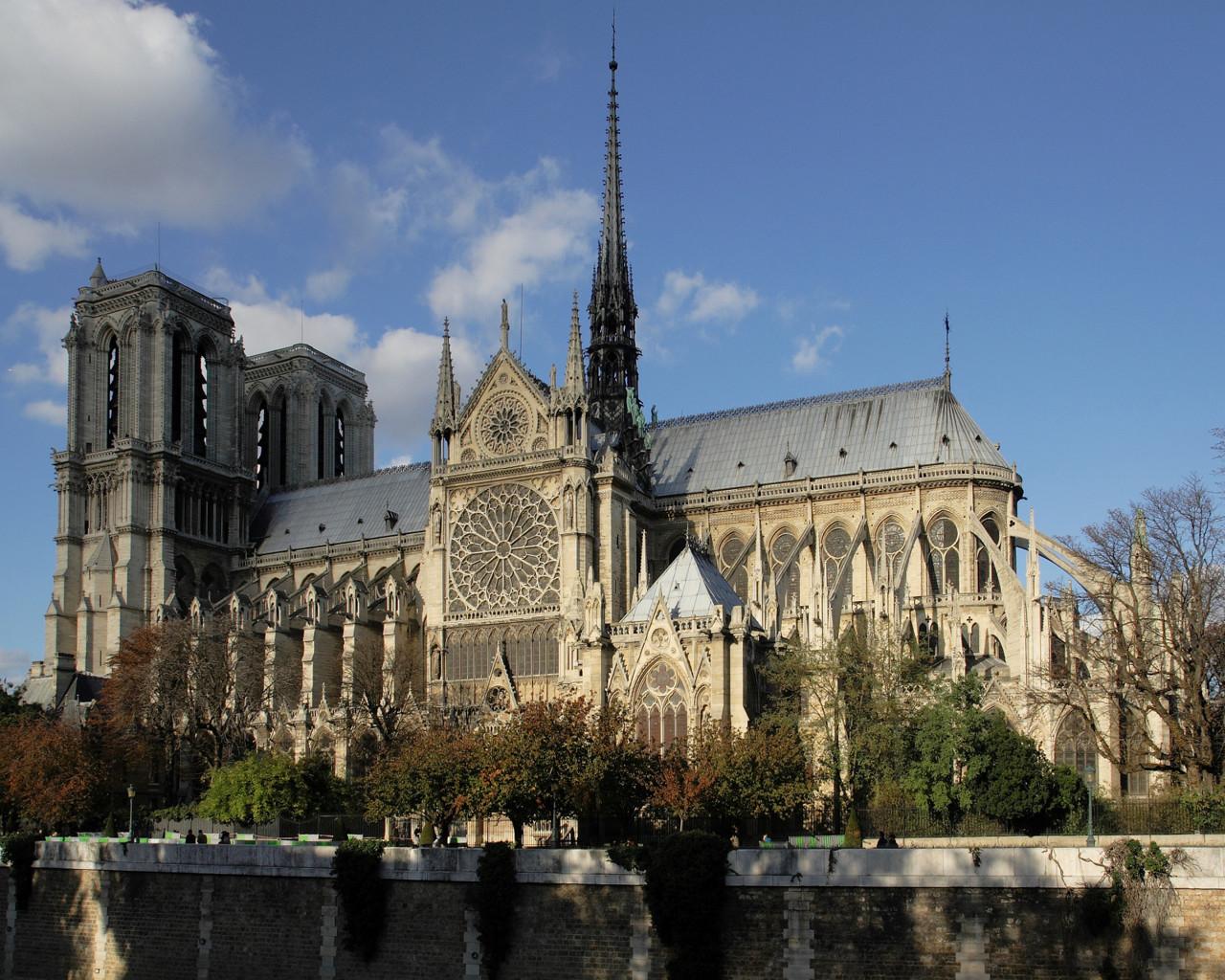 Парыж, Францыя. Парыжскі сабор: Notre Dame de Paris.