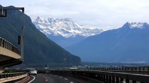 Аўтабан ў Альпах.